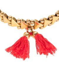 J.Crew | Red Stretch Triangle Tassel Bracelet | Lyst