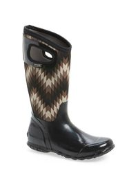 Bogs | Black 'north Hampton' Graphic Print Waterproof Boot | Lyst