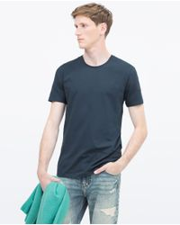Zara | Blue Superslim T-shirt for Men | Lyst