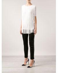 Stella McCartney - White Fringe Tshirt - Lyst