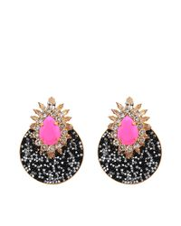 Shourouk | Pink Luna Earrings | Lyst