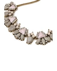Forever 21 - Pink Faux Stone Cluster Necklace - Lyst