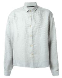 Haider Ackermann - Green Patterned Shirt for Men - Lyst