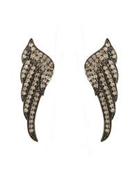 Adornia | Metallic Champagne Diamond Fallon Wing Earrings | Lyst