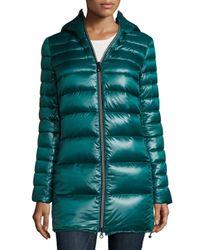 Duvetica | Blue Calimon Down Coat W/ Zip-off Sleeves | Lyst