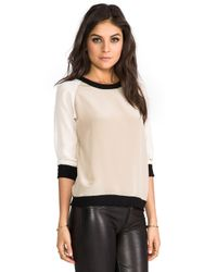 Sjobeck - Natural Lombard Silk Sweatshirt in Cream - Lyst