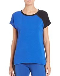 Elie Tahari | Blue Celeste Knit Top | Lyst