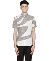 Alexander McQueen - White And Black Prince Of Wales Shirt for Men - Lyst