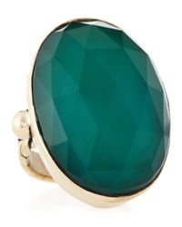 Stephen Dweck | Oval Green Agate Rock Crystal Ring 6 | Lyst