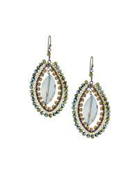 Nakamol - Metallic Crystal-wire Drop Earrings - Lyst