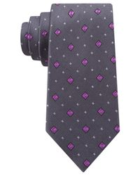 Michael Kors - Gray Michael Multi Box Cube Slim Tie for Men - Lyst
