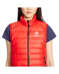 Ralph Lauren - Orange Explorer Down Vest - Lyst