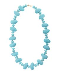 Kenneth Jay Lane | Blue Multi-shape Pebble Necklace | Lyst
