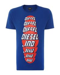 DIESEL | Blue Ind. Graphic T-shirt for Men | Lyst
