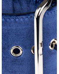 Givenchy | Blue Buckle Velvet Bracelet | Lyst