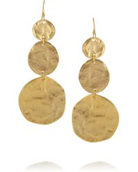 Kenneth Jay Lane | Metallic Hammered Goldplated Earrings | Lyst