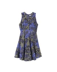 Rebecca Taylor - Blue Flame Of The Forest Print Dress - Lyst