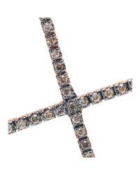 Ileana Makri - Pink 18kt Rose Gold Cross Necklace With Diamonds - Lyst