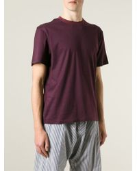 Julien David - Purple Round Neck T-Shirt for Men - Lyst
