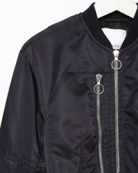 3.1 Phillip Lim - Blue Cropped Flight Jacket - Lyst