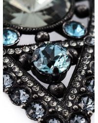 Lanvin | Blue Crystal Embellished Star Brooch | Lyst