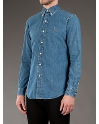 Polo Ralph Lauren - Blue Denim Shirt for Men - Lyst