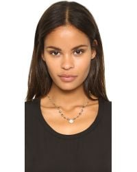 Ela Rae - Metallic Ara Two Tone Necklace - Lyst
