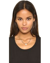 Ela Rae | Metallic Ara Two Tone Necklace | Lyst