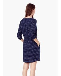 Mango - Blue Flowy Printed Dress - Lyst