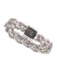 John Hardy | Metallic Black Sapphire Braided Chain Bracelet | Lyst