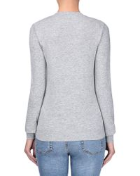 Love Moschino | Gray Long Sleeve Sweater | Lyst