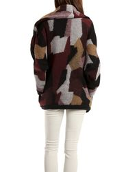 Thakoon Addition - Red Double Layer Patchwork Jacket in Grey Multi - Lyst