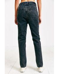 BDG - Acid Washed Black Mom Jeans - Lyst