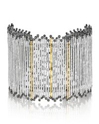 Coomi | Metallic Spring Tricolor Cuff Bracelet With Diamonds | Lyst