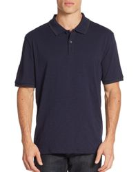 Saks Fifth Avenue | Blue Contrast-tipped Polo Shirt for Men | Lyst