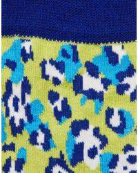 ASOS - Green Socks with Bright Leopard Design for Men - Lyst