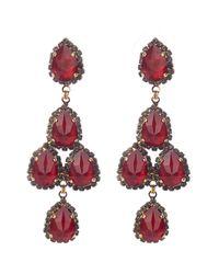 Erickson Beamon - Red Duchess Of Fabulous Earrings - Lyst