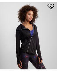 Live Love Dream | Black Lld Asymmetrical Zip Warm-up Jacket | Lyst