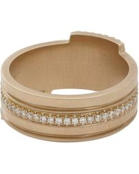 Monique Péan | Metallic Pavé Diamond & White Gold Eternity Stacking Band | Lyst
