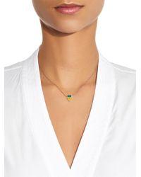 Nikos Koulis   Metallic Yellow-Diamond, Emerald & White-Gold Necklace   Lyst