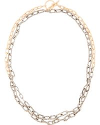 Pearls Before Swine | Metallic Silver And Gold Toggle Long Necklace | Lyst