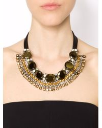 Marni - Green Strass Evening Necklace - Lyst