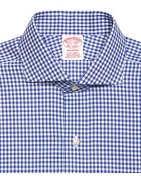 Brooks Brothers - Blue Non-Iron Regent Fit Gingham Dress Shirt for Men - Lyst