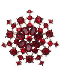 Jones New York | Red Open Work Clusters Pin | Lyst