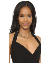 Lulu Frost | Metallic Passage Necklace - Gold/clear | Lyst