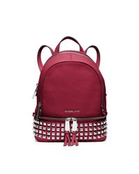 Michael Kors | Red Rhea Extra-small Leather Backpack | Lyst