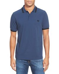 Fred Perry | White Twin-Tipped Polo Shirt for Men | Lyst