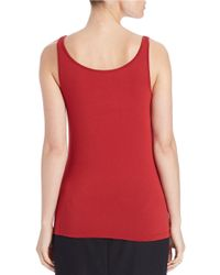 Lord & Taylor | Red Plus Stretch Roundneck Tank | Lyst