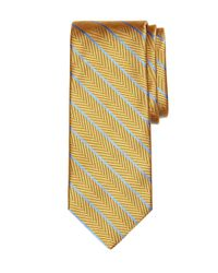 Brooks Brothers | Blue Herringbone Stripe Tie for Men | Lyst