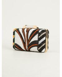 Emilio Pucci | Multicolor Beaded Satin Clutch | Lyst